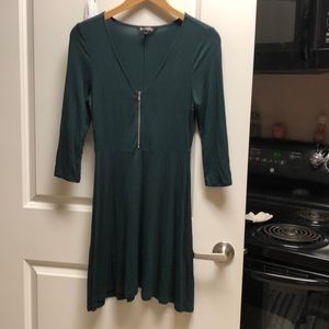 Green dress with zipper size XS by Express